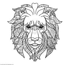 Small Picture Lion Head Coloring Pages GetColoringPagesorg