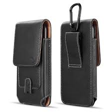 details about vertical leather cell phone pouch for samsung galaxy note 8 note 9 holster clip