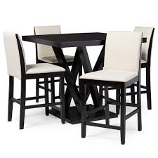 baxton studio everdon dark brown  piece modern pub table set