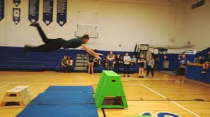 high school gym. Teaching Parkour At A High School Gym Class In Ohio