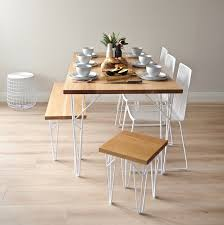 Hairpin dining table Industrial Oak Furniture Ico Traders Tongariro Oak Dining Table Ico Traders