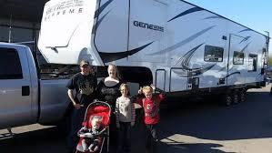 2016 genesis supreme 42ft 5th wheel toy hauler image