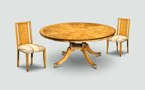 art deco round dining table style reion furniture column cer base burr poplar side chair