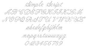 simple script alphabet