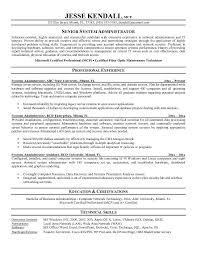 resume samples for system administrator job position senior system  administrator resume sample - System Administrator Resume