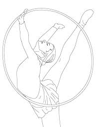 Gymnastics Coloring Book Free Free Gymnastics Coloring Pages For