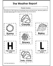 Weather map coloring pages