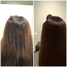 ロング多毛剛毛 硬い髪を自然な縮毛矯正でボリュームダウン 縮毛矯正の