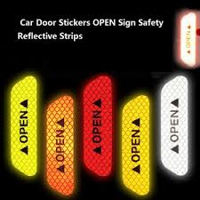<b>Car</b> Door Stickers Universal Safety Warning Mark <b>OPEN</b> High ...