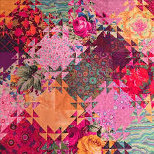 465 best Kaffe Fassett images on Pinterest   Quilt patterns ... & Portion of Kaffe Fassett fabrics Shimmering Triangles quilt. By Debra  Caddell Adamdwight.com