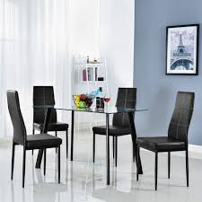 Amazoncom Bonnlo 5 Pieces Dining Set Modern Dining Table Set For