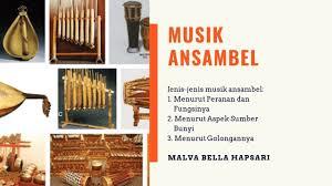 Contoh dari musik ansambel campuran antara lain yaitu gitar, rekorder, pianika, triangel, simbal dan juga tamborin. Musik Ansambel Apa Musik Ansambel Itu Pengertian Jenis Dan Contoh Musik Youtube