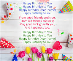 Birthday Songs List Birthday Song Lyrics