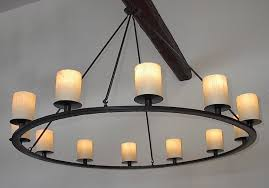 image of iron ring chandelier style