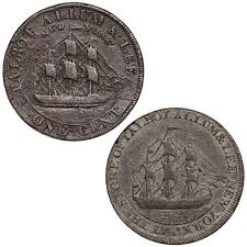 Colonial New York Talbot Allum Lee Cent 1794 1795 2 Coin Set F Xf