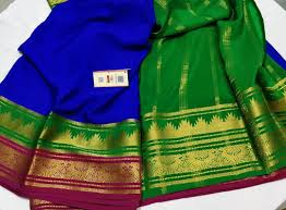 Ksic Saree Designs Pure Ksic Grade Mysore Silk Crepe Sarees With Double