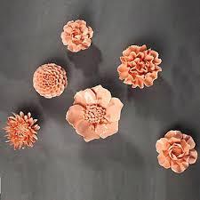 trendy design ceramic flower wall decor modern decoration art e pink flowers 3d on 3d ceramic flower wall art with ceramic flower wall decor japs fo
