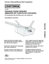 craftsman 1 2 hp garage door opener manual craftsman 3 4 hp garage door opener manual