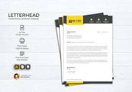 Creative Letterhead Design Free Template Stationery Templates Market