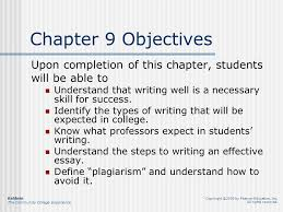 chapter writing effectively college writing skills types of  2 chapter