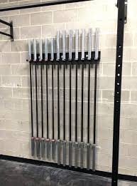 barbell storage wall mounted weight bar rack for bars barbell storage diy