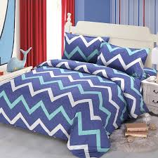 aqua blue and white chevron stripe print simply chic abstract 100 cotton twin full queen size bedding sets