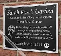 ridge wood office etched zinc memorial plaque ridge wood cu etched zinc memorial plaque