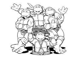 Small Picture The Four Ninja Turtles Leonardo Michelangelo Donatello And