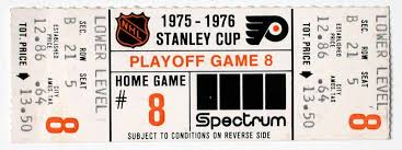flyers ticket prices 1975 76 philadelphia flyers playoff ticket stub gamewornauctions net