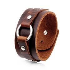men s punk leather bracelet wide leather black brown bracelet casual bracelet street shoot party gift travel memorial