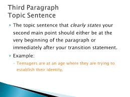 persuasive essay  10 <ul><li>the topic sentence