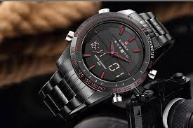NAVIFORCE 9024 Dual Time Digital Analog Luxury <b>Men Fashion</b> ...
