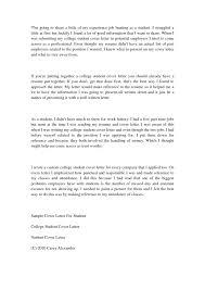 Inspiring Design Cover Letter For College Student 5 Cv Resume Ideas