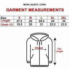 Zara Men S Coat Size Chart Mens Jacket Zara