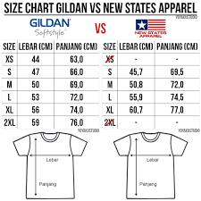 Biaya Tambahan Bahan Kaos Alternatif New States Apparel Classic