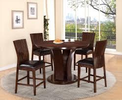 Daria Espresso Counter Height Dining Set (5PC) - La Sierra Furniture