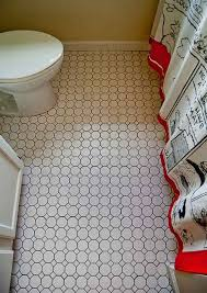 black and white cool tile flooring of octagon floor tile