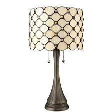 serena d italia tiffany jeweled 21 in bronze table lamp