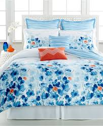 image of blue anthropologie bedspread
