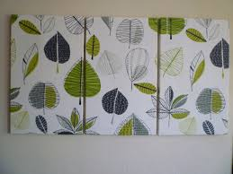 zoom on fabric over canvas wall art with big lime green fabric wall art funky retro designer cotton