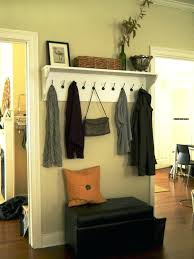 Entryway Shelf And Coat Rack Wall Mounted Coat Hooks With Shelf Floating Entryway Shelf Coat Rack 49