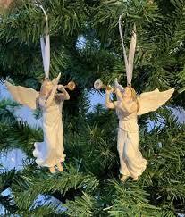 Christbaumschmuck 2 Engel Mit Posaune Weihnachtsbaumschmuck