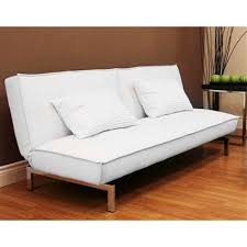 white futon sofa bed. Belle Faux Leather Convertible Futon Sofa Bed, White Walmartcom Bed