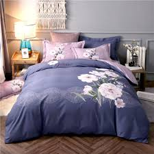 2018 fl bohemian blue grey duvet cover sets sanding cotton bed cover queen king size bedding sets bedsheet pillowcases blue bedding black bedding from