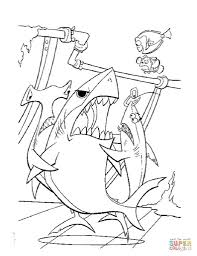 Bruce Wants To Eat Dory Coloring Page Free Printable Coloring