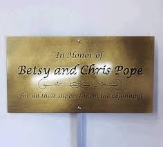 memorial bench plaques