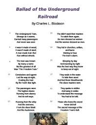 no stuff by eloise greenfield harriet tubman poem and questions  ballad of the underground railroad poem and questions