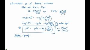 17 2 Calculating Ph Of Buffer Solutions Youtube