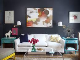 image of cool diy living room wall decorating ideas