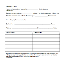 community service verification form for court sample service hour form 13 download free documents in pdf word